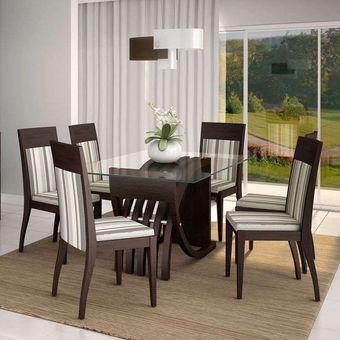 juego de comedor pul italia sillas tapiz lineal