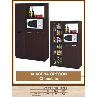 Compra alacena b b chocolat oregon chocolate online for Simulador de muebles de cocina online