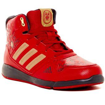 zapatillas botitas adidas rojas
