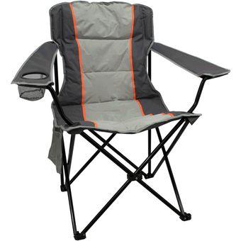 silla plegable para playa y camping ecology mod xxl comfort gris