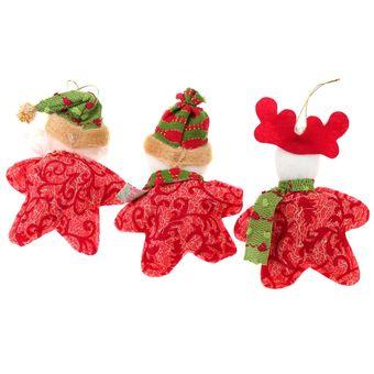 linda forma de estrella reno de pap noel mueco de nieve decoracin navidea gran rbol de
