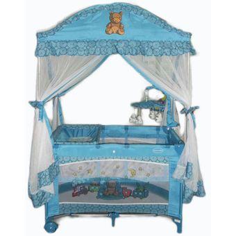 royal baby cuna corral osito celeste - Cunas De Bebes