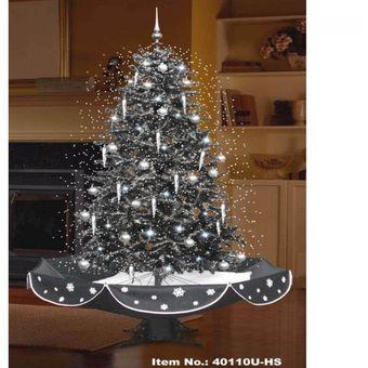arbol de navidad auto nevado u hs negro