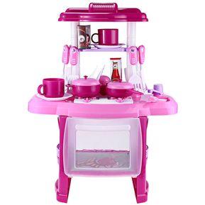 cocina de cocina de simulacin de nios simular juguete de juego de rol con msica de