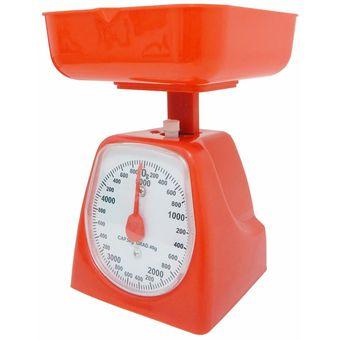Compra b scula de cocina 5 kg naranja online linio m xico for Bascula de cocina barata