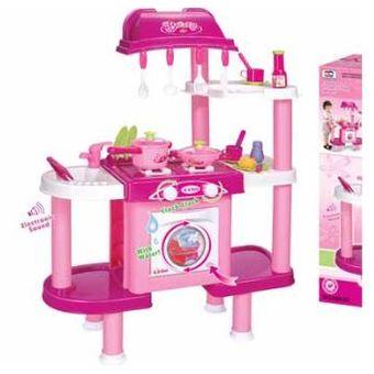 agotado cocina interactiva de juguete con lavadora para nias