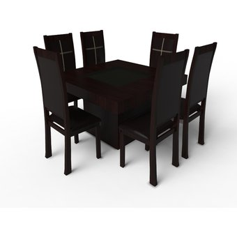Compra comedor p l new york 6 sillas mesa con cajones for Comedor 6 sillas coppel