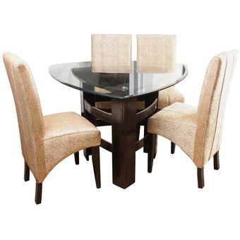 Compra juego de comedor colec patricia de 4 sillas beige for Juego de comedor lima
