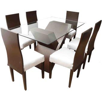Compra juego de comedor de 6 sillas ferrini online linio for Juego de muebles de comedor