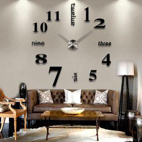 d diy analog reloj de pared moderno dec