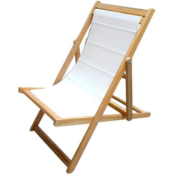 amoblados fysa silla plegable para terraza o playa natural blanco