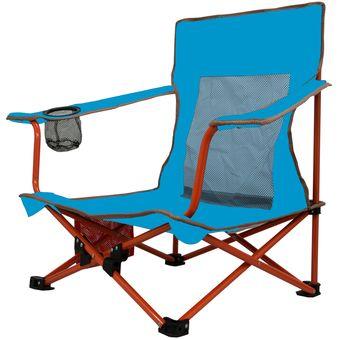 silla plegable para playa y camping ecology mod sand chair azul