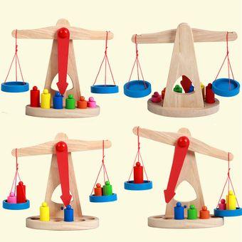 balanzas de madera para nios con un peso de equilibrio juegos de regalos para el nio