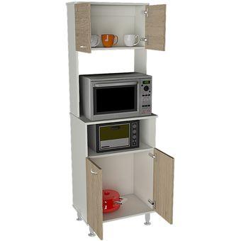 Compra mueble de cocina tuhome kitchen 54 fenix blanco for Muebles de cocina para microondas