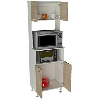 Compra mueble de cocina tuhome kitchen 54 fenix blanco for Muebles para despensa cocina