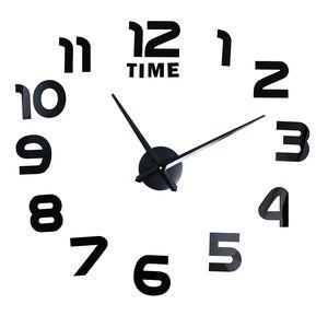 reloj de pared grande grande moderno de diy