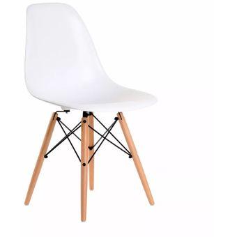 set de sillas eames dsw blanco