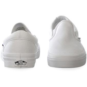 vans classic slip on blanca