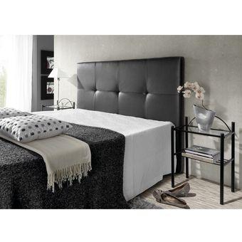 cabecero para base cama tapizado malta negro