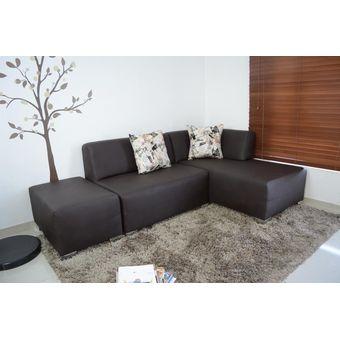 Compra sala en l cuero venecia 6p choc online linio colombia for Muebles de sala en quito baratos