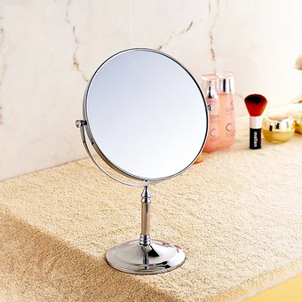 espejo tocador para maquillaje pulgadas doble cara aumento plateado