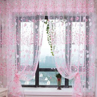 magideal m sala de m gasa de tul floral cortinas ventana de la puerta de