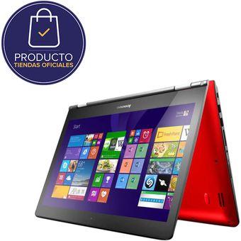 """Portatil Lenovo  Yoga 500-14IBD Intel Core I5-5200U RAM 4GB  DD 1TB Windows10 14""""-Rojo"""