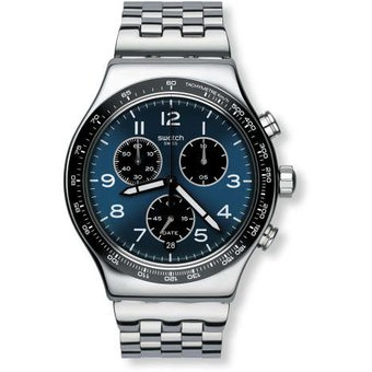 reloj swatch boxengasse yvsg plateado