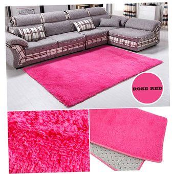 Compra er sal n rosa de lana alfombra de la habitaci n - Alfombras de lana para salon ...