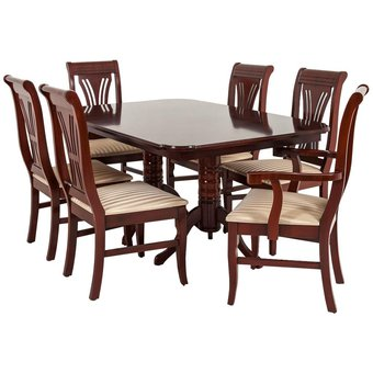 Compra comedor lucena 6 sillas estilo cl sico online for Comedores en famsa