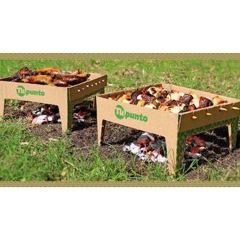 Parrilla Portátil Desechable Cartón Biodegradable Camping