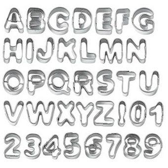 Compra pixnor 37pcs del alfabeto de metal y letras n mero for Letras decoracion metal