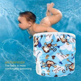 Compra eh pa ales lavables ajustable beb nadar piscina pantal n impermeable del pa al de - Panales para piscina ...