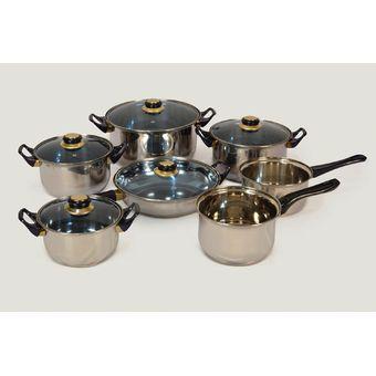 Compra bater a de cocina 12 piezas acero inoxidable online linio m xico - Bateria de cocina solingen 12 piezas ...