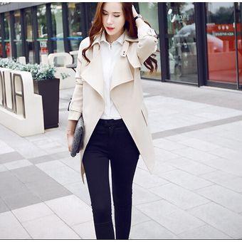 chaqueta para mujer estilo elegante y modelo caqui