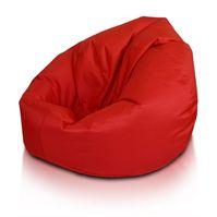 puff redondo rojo lona impermeable dormipuff