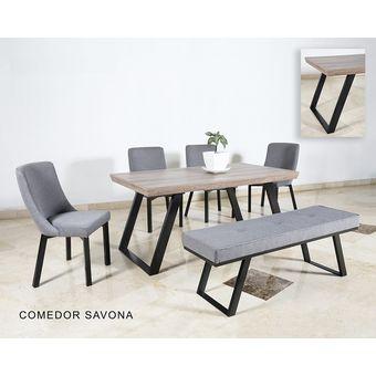 silla para comedor dimmsa savona acero pintado tapizado en tela gris oxford