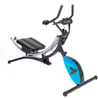 Ejercitador Muscular AB Bike Con Tres Niveles De Intensidad - Gris Con Azul